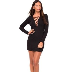 Motel Lace Up Mini Dress